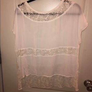 White Lace Anthropologie top
